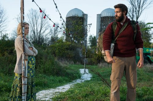 Left to right: Emily Blunt and John Krasinski in A QUIET PLACE from Paramount Pictures.